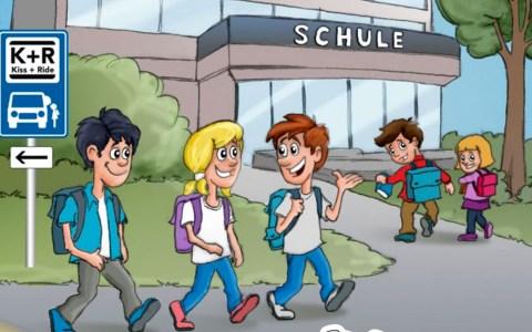 Das Elterntaxi im Fadenkreuz – eine alarmierende Schulwegbilanz. ©2019 ACE
