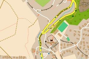 Vollsperrung der Rambacher Straße @2019 Openstreetmap