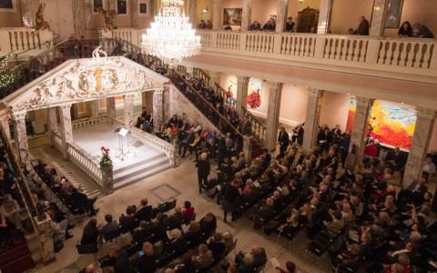 Jedes Jahr ein Hight unter Kulturinteressierten, die vier Konzerte im Marmorsaal im Firmensitz von Henkell. @2017 Volker Watschounejk