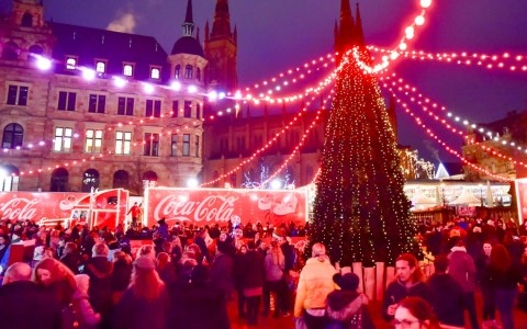 Coca Cola Trucks in Wiesbaden