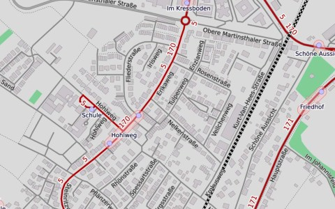 Erikaweg in Walluff, Map, ©2019 Openstreetmap