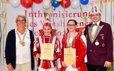Inthronisierung des Kinderprinzenpaar Marcel I. und Chantal I. im Luisenforum. Foto: Volker Watschounek