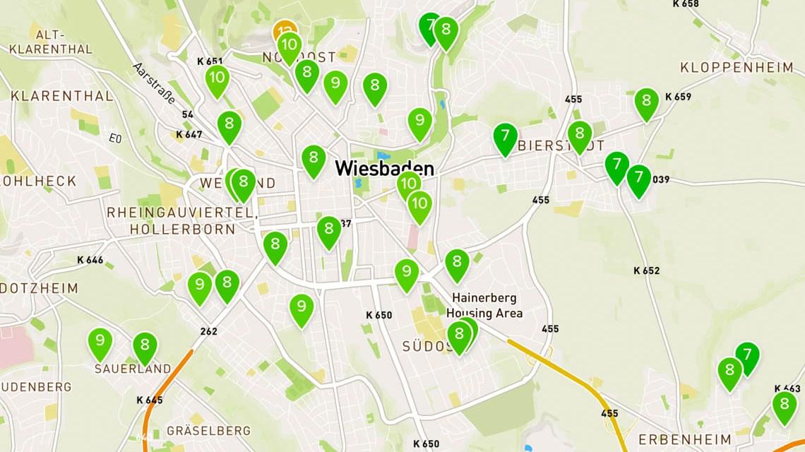 Netatmo Wetterstationen in Wiesbaden