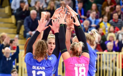 Archivfoto: Erfurt - VCW, 1. Volleyball Bundesliga Damen, VC Wiesbaden - Ladies in Black Aachen, 0:3