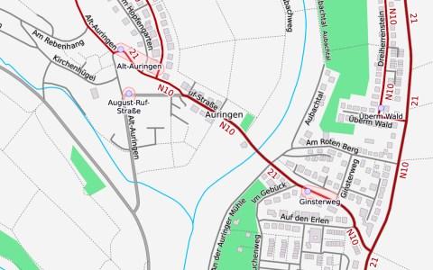 Busumleitung in Auringen ©2019 Openstreetmap