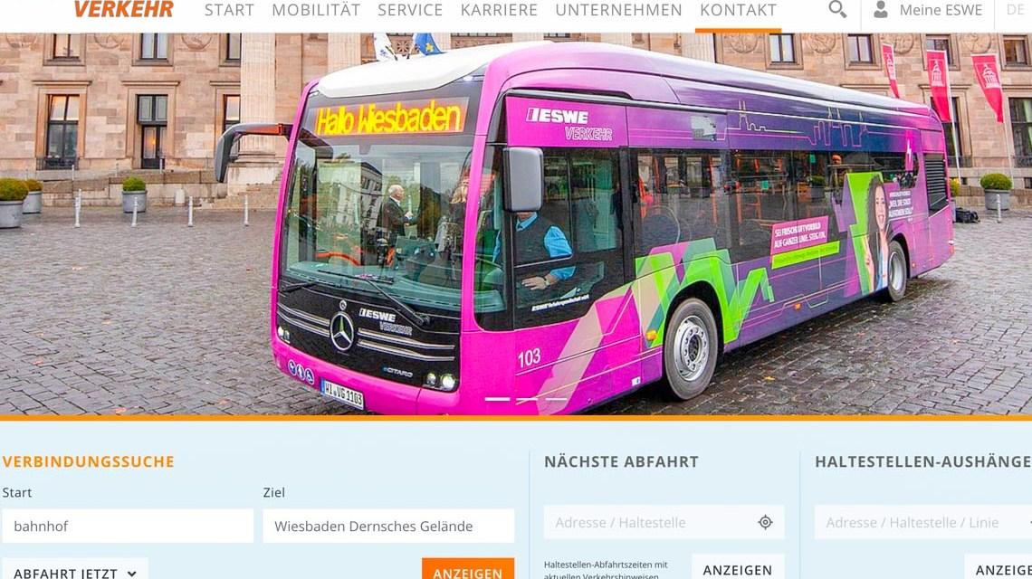 Webseite RESWE Verkehr