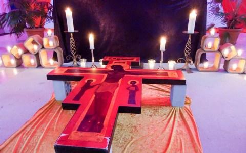 """Gottesdienst unter dem Titel """"Liebe gewinnt"""" ©2019 Evangelische Jugendkirche"""
