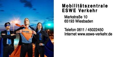 Kontakt zu ESWE Verkehr – Marktstraße 10, 65193 Wiesbaden, Telefon 0611/341 547-0