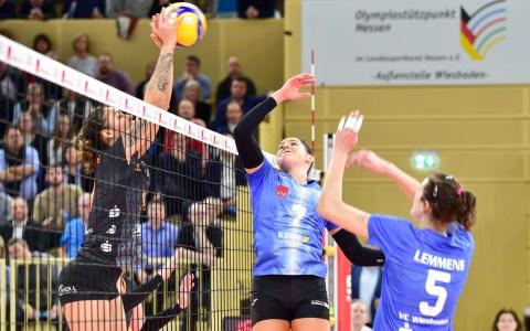 1. Volleyball Bundesliag Damen | 11. Spieltag | VC Wiesbadene - Nawarro Straubing | 1:3