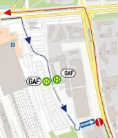 Umleitung der Busse in der Gatenfeldstraße