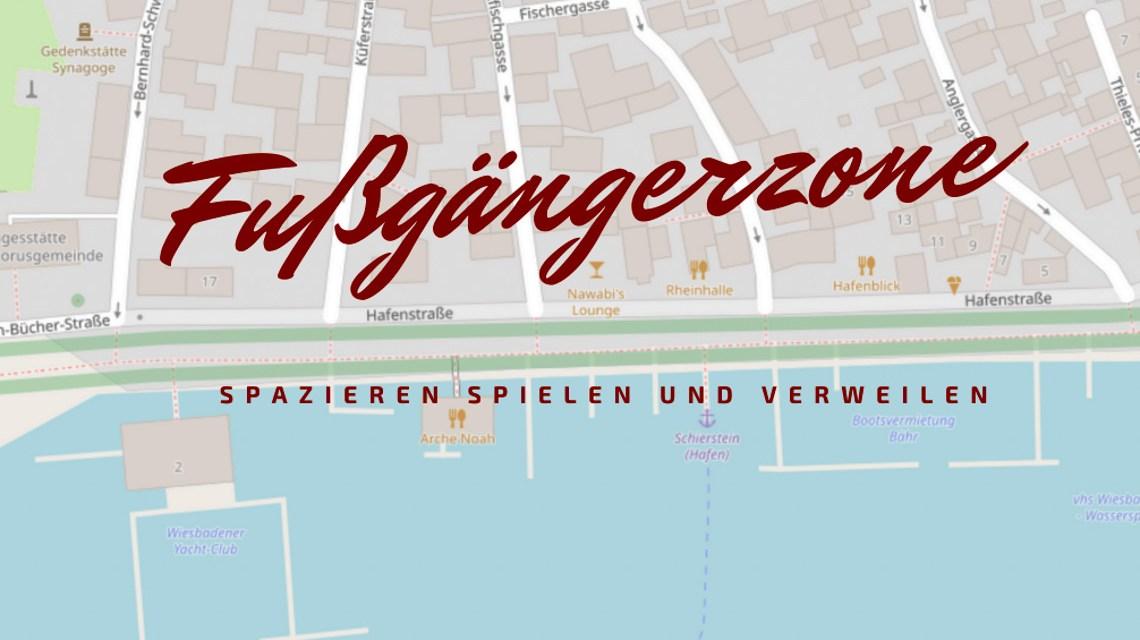 Hafenstraße in Schierstein wird Fußgängerzone