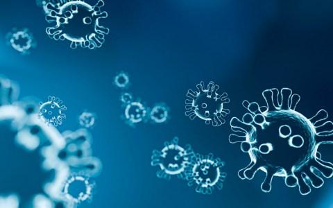 COVID-19 Darstellung von Viren / Vitaamin D, Polyphenole und saubere Luft schützen vor Coronavirus. ©2020 Dr. Jacobs Institut