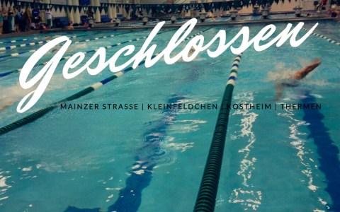Therme und Schwimmbäder schließen