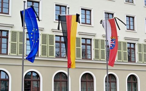 Hessischer Landtag Trauerflor