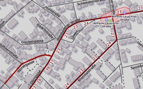 Ortsdurchfahrt Dotzheim-Mitte gesperrt