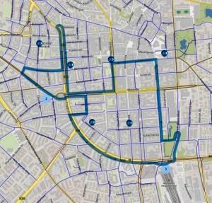 Stadtradeln: Beschreibung: Route Auftakt