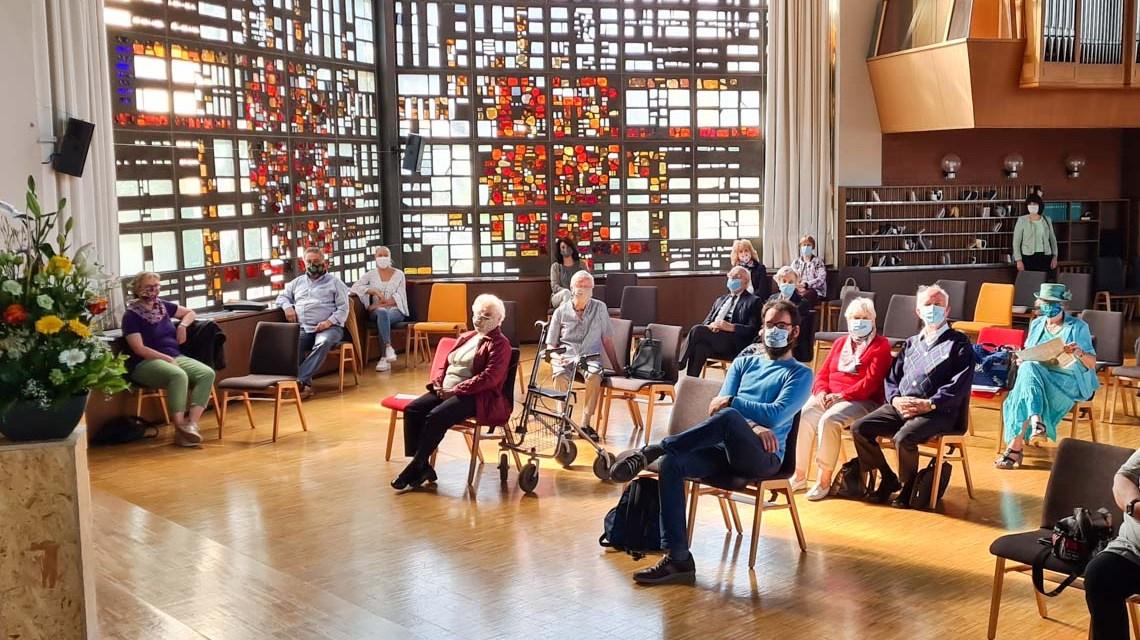 Erster Gottesdienst in der Baptistrengemeinde Wiesbaden nach den Shutdown.