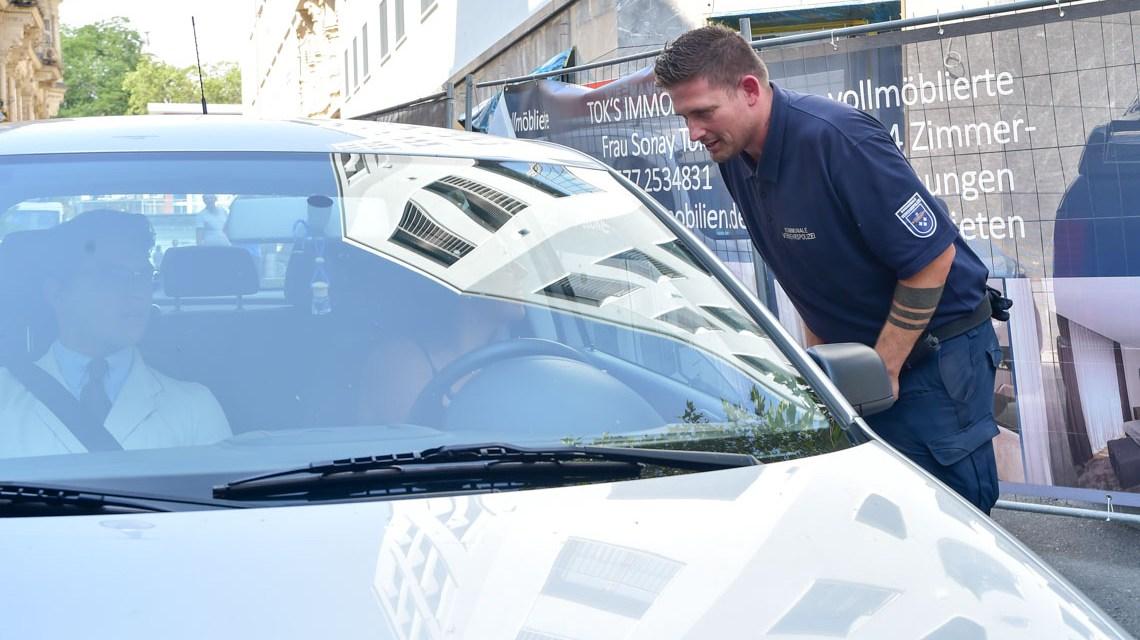 Stadtpolizei in Wiesbaden im Einsatz