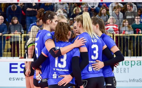 1. Volleyball Bundesliga Damen, VC Wiesbaden - Ladies in Black Aachen, 0:3