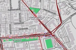 Frankfurter Straße ©2020 Openstreetmap