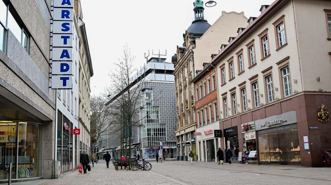 Fußgängerzone in Wiesbaden