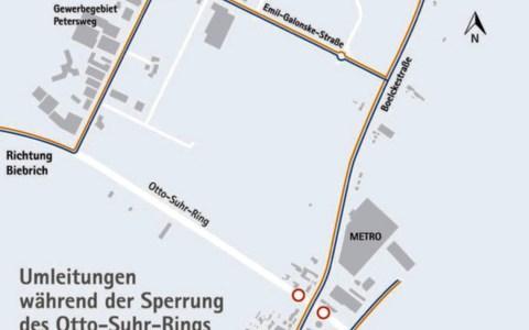 Umleitunmg Otto Suhr Ring ©2020 Tiefbau- und Vermessungsamt
