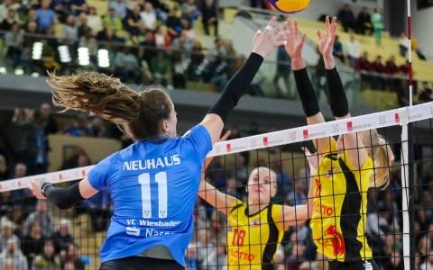 DVV-Pokal: VfB Suhl Lotto Thüringen vs. VC Wiesbaden