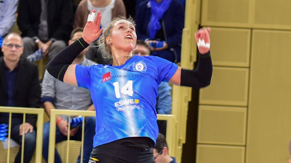 Lena Vedder, 2019.2020 | 13. Spieltag |. VC Wiesbaden - MTV Stuttgart 0:3