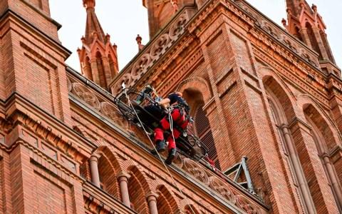 Wiesbadens Höhenrettung probt den Ernstfall