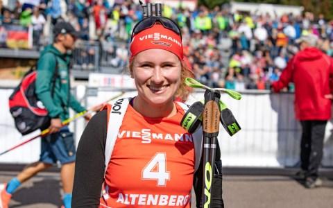 Janina Hettich startet beim City-Biathlon