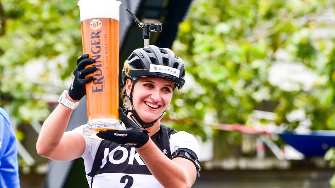 Julia Simon gewinnt den City-Biathlon