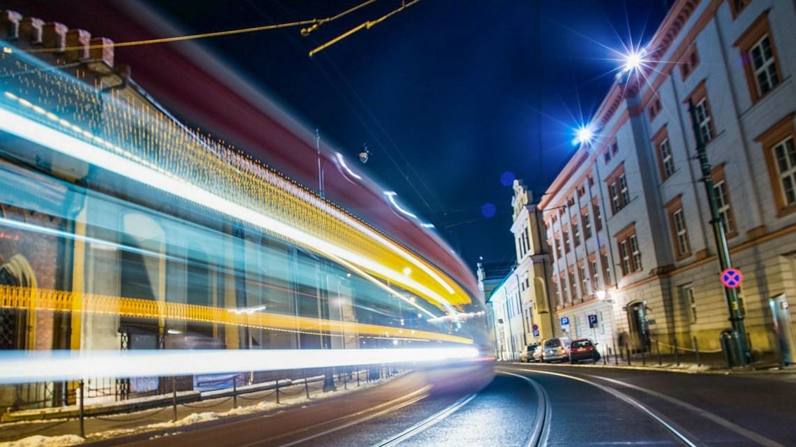 Straßenbahn aus Krakau ©2020 peterscode