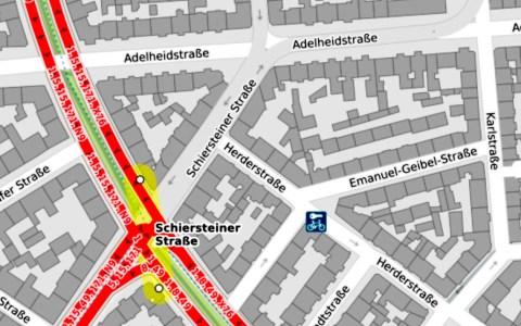 Schiersteiner Strasse © Opensteermap