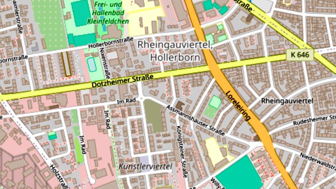 Dotzheimer Straße / 1. Ring ©202 Openstreetmap