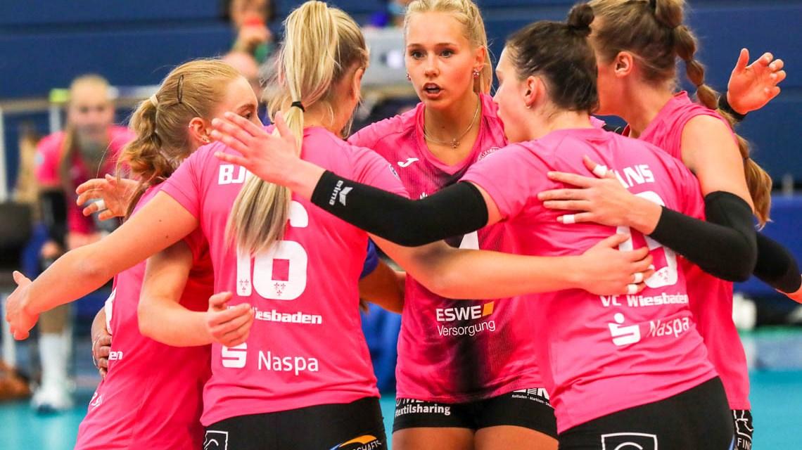 Volleyball Bundesliga, Saison 2020.2021, 1. Spieltag, USC Münster - VC Wiesbaden, 3:2