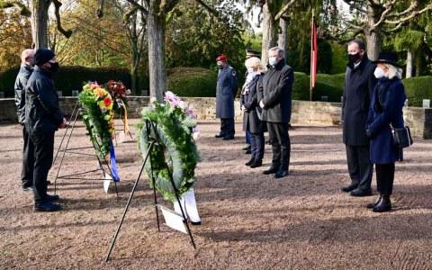 Volkstrauertag am Mahnmal auf dem Südfriedhof