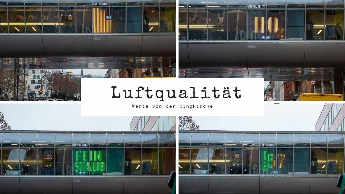 Städtische Infotafel zeigt Luftqualität an