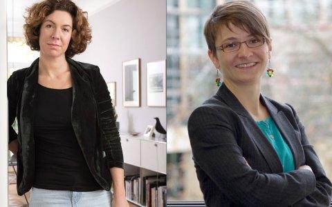 Die Grünen n Kandidatinnen Kristina Jeromin und Uta Brehm