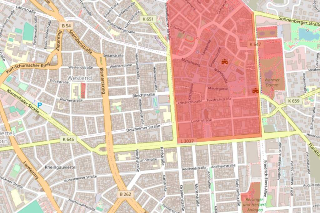 Alkoholverbotszonen in Wiesbaden