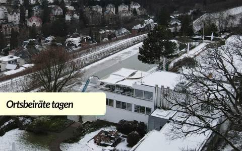 Winterimpressionen vom Neroberg: Blick auf das Opelbad, das Thema der Ortsbeiratssitzung sein wird.