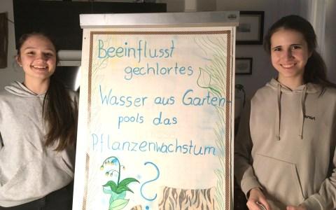 Maria Sarris und Olivia Bivol von der Gutenbergschule