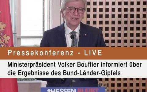 Live: Ministerpräsident Volker Bouffier