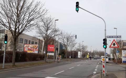Ampeln Ecke Ecke Borsigstraße/Otto-von-Guericke-Ring