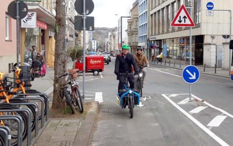 Neue Radverbindung Luisenstraße fertiggestellt