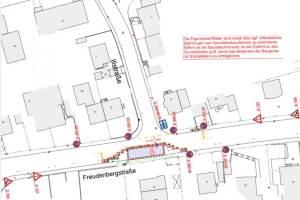 Plan der Baustelle Illstraße