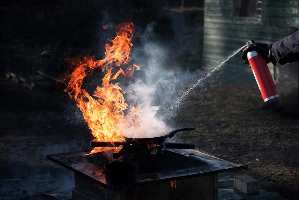 Mit dem Feuerlöscher immer gut vorbereitet sein.