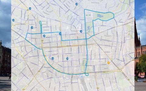 Die Route beim Stadtradeln 2021