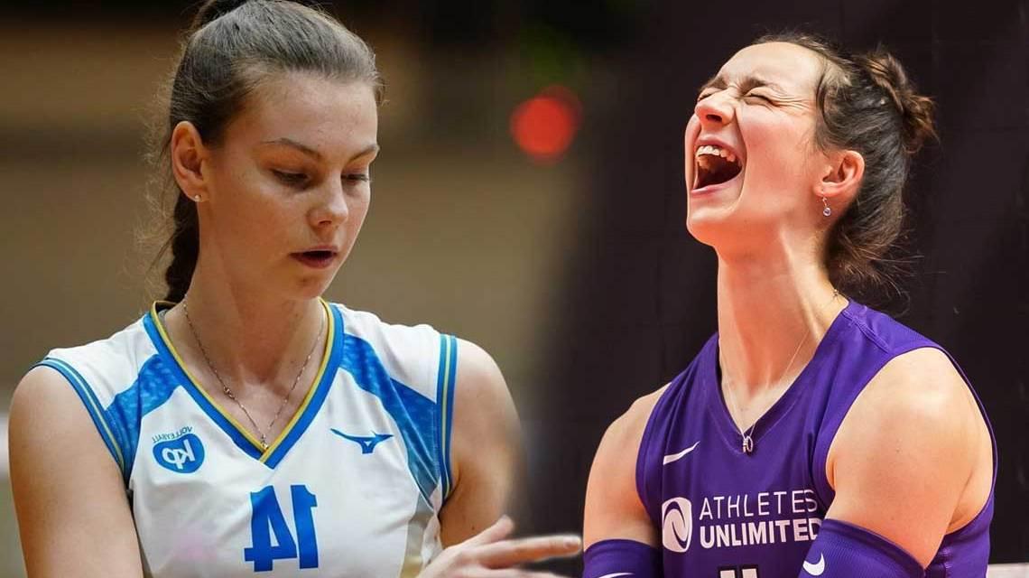 tschechische Nationalspielerin Kveta Grabovska / US-Amerikanerin Erica Handley (li), VC Wiesbaden