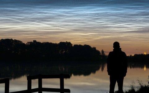Leuchtende Nachwolken