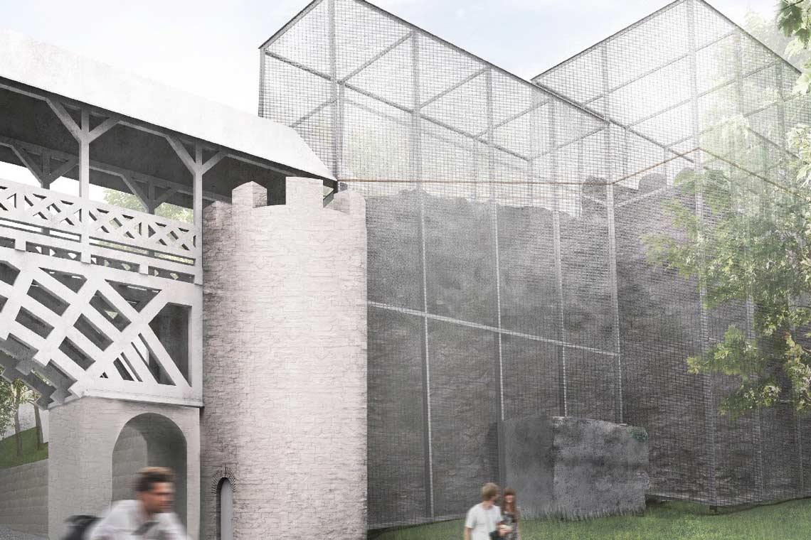 Witterungsschutz Römermauer